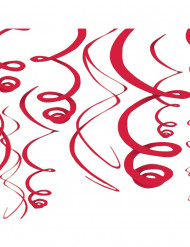 Décorations à suspendre rouge