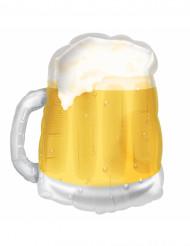 Ballon aluminium chope de bière jaune Saint Patrick