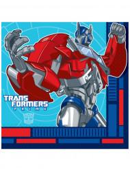 16 Serviettes en papier Transformers™ 33 x 33 cm
