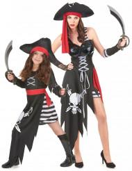 Déguisement couple pirate mère et fille