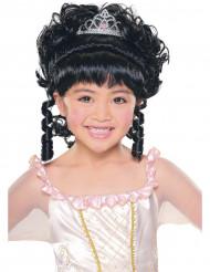 Perruque princesse brune fille