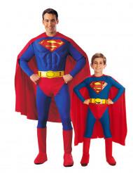 Déguisement couple Superman père et fils