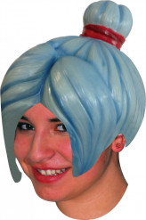Perruque latex manga bleue adulte