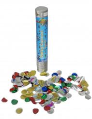 Canon à confettis 24cm avec confettis ronds métalliques
