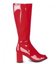 Bottes rouges vernies femme