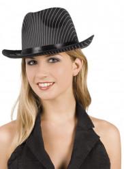 Chapeau gangster rayé adulte