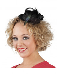 Mini chapeau noir femme