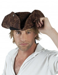 Chapeau pirate marron adulte