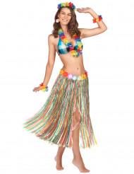 Jupe longue multicolore Hawaï femme
