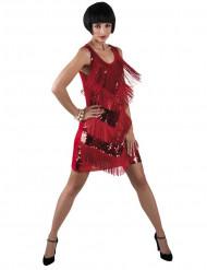 Déguisement charleston rouge brillant femme