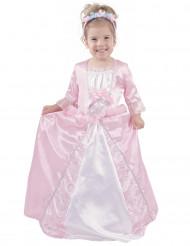 Déguisement princesse rose satiné fille