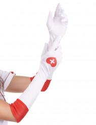 Gants longs blancs infirmière
