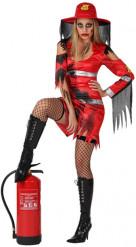 Déguisement sapeur-pompier zombie femme Halloween