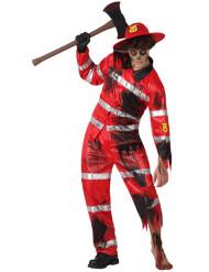 Déguisement sapeur-pompier zombie homme Halloween