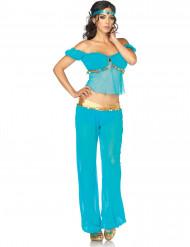 Déguisement danseuse orientale bleue femme