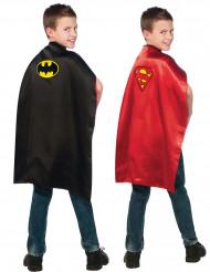 Cape réversible Batman™ et Superman™ enfant