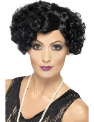 Perruque cabaret ondulée noire femme