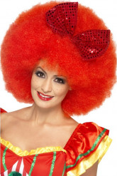 Perruque afro clown rouge adulte