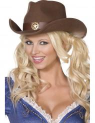 Chapeau cowboy sheriff adulte