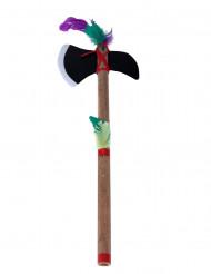 Petite hâche tomahawk indien en plastique et bambou