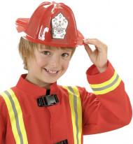 Casque pompier rouge enfant