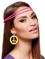 Boucles d'oreilles hippies jaunes