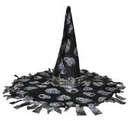 Chapeau sorcière noir et gris Halloween