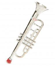Trompette plastique argentée