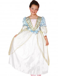 Déguisement princesse bleue et blanc fille