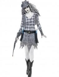 Déguisement fantôme cowgirl femme Halloween