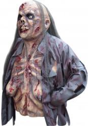 Masque et haut du corps zombie femme Halloween