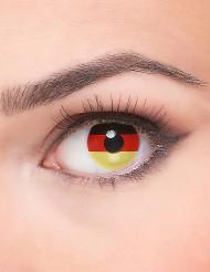 Lentille fantaisie drapeau Allemagne adulte