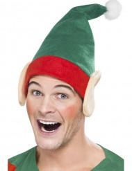 Bonnet elfe avec oreilles adulte Noël