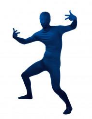 Déguisement Seconde peau bleue adulte
