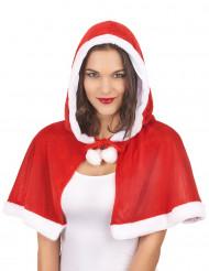 Cape avec capuche Mère Noël femme