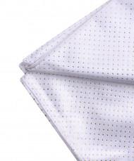 Nappe carrée en tissu blanche et or 140 x 140 cm