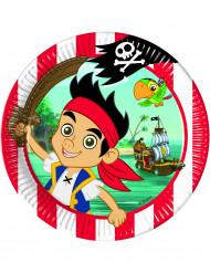 8 Asiettes Jake et les pirates™  23 cm