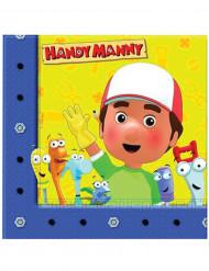 20 Serviettes en papier Manny et ses outils™ 33 x 33 cm