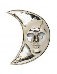 Masque lune argenté adulte