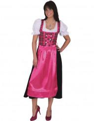 Déguisement traditionnel à carreaux rose Bavaroise femme