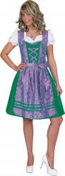 Déguisement traditionnel vert et violet Bavaroise femme
