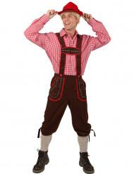 Déguisement traditionnel bavarois homme pantalon marron