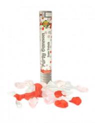 Canon à confettis pétales de rose 30 cm