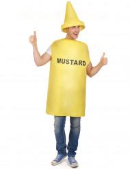 Déguisement pot de moutarde adulte