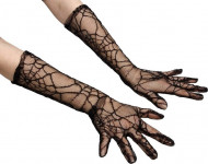 Gants en dentelles toile d'araignées femme
