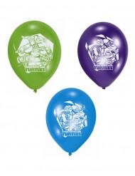 Lot de 6 Ballons de baudruche en latex Tortues Ninja™