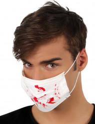 Masque blanc tâches de sang Halloween