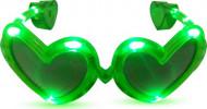 Lunettes coeur verte LED