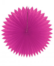 Rosace papier rose fuschia