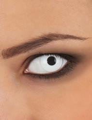Lentilles fantaisie oeil blanc adulte